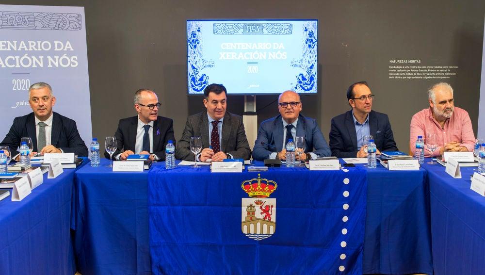 Manuel Baltar na xuntanza das actividades do centenario da Xeración Nos