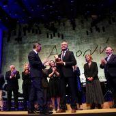Jozquín Camps recibiendo el Premio Azorín 2019