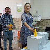 Mireia Mollà, Antonio García, Felip Sánchez y Esther Díez en las primarias de Compromís per Elx