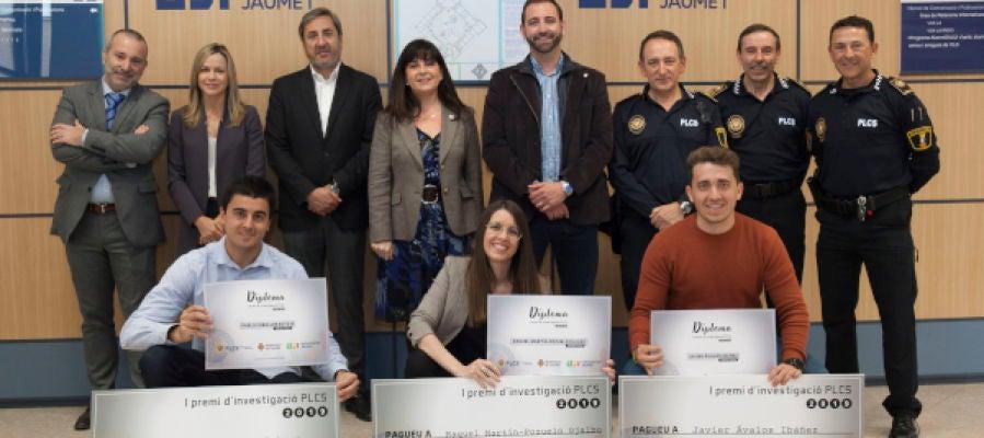 La Policía Local de Castelló premia tres trabajos de fin de grado de estudiantado de la UJI de Criminología y Seguridad