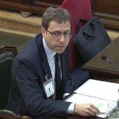 El exsecretario general del Diplocat, Albert Royo, durante el juicio del 'procés'