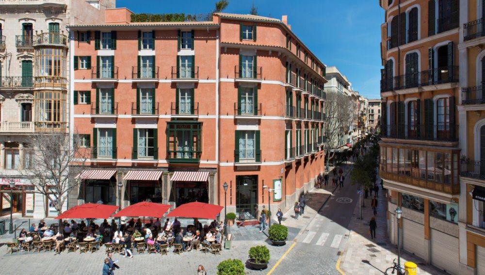 El Hotel Mama, en la Plaza de Cort de Palma.