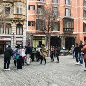 Turistas en el centro de Palma
