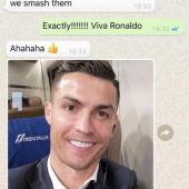 Los WhatsApp de Evra y CR7