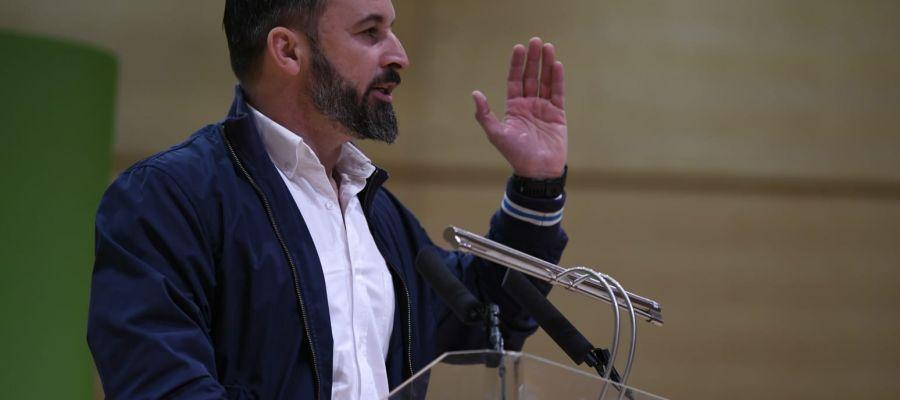 Santiago Abascal durante su intervención en un acto celebrado hoy en Ciudad Real
