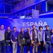 Sergio Rodríguez -primero por la izquierdad- y José Salas -cuarto por la izquierda- en un acto del PP