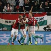 Hungría celebra un gol