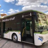 Uno de los autobuses de la flota del transporte público urbano de Elche.