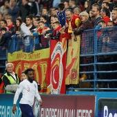 Danny Rose, en el partido ante Montenegro
