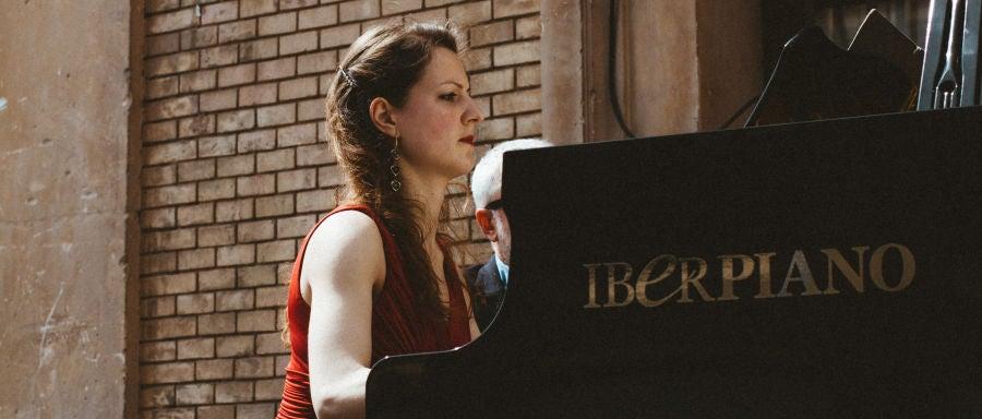 La pianista Lucia Brighenti