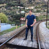 Iker Casillas, en las vías de un tren