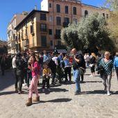 Turistas paseando por el centro de Palma