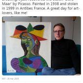 Captura de Internet en el que se ve el cuadro 'Busto de mujer', de Picasso