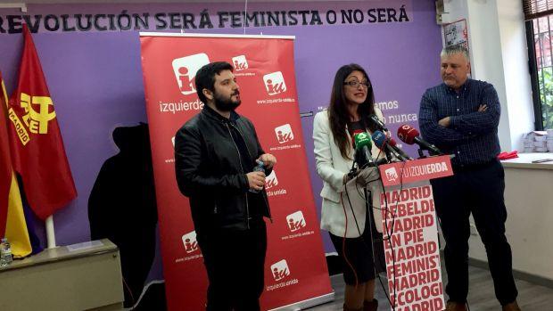 IU Madrid rompe con Podemos y concurrirá con los Anticapitalistas a las elecciones del 26 de mayo