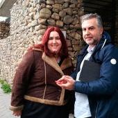 Carlos Alsina con Cristina, una joven con autismo