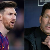 Messi y Simeone