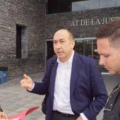 El exalcalde de Elche Alejandro Soler en la Ciudad de la Justicia