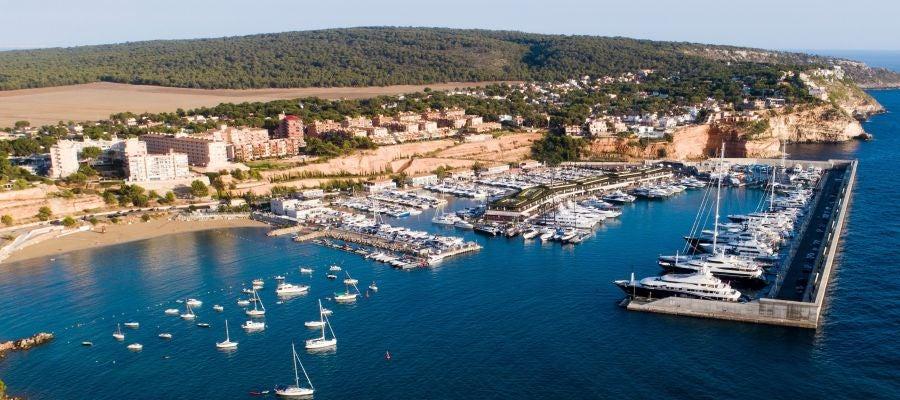 Imagen aérea de Port Adriano, en Mallorca.