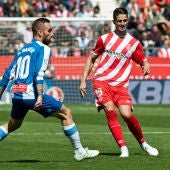 Momento del partido del Girona - Espanyol