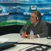 Pepu Hernández durante una entrevista con José Ramón de la Morena en El Transistor