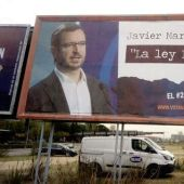 Valla de Hazte Oír contra el PP