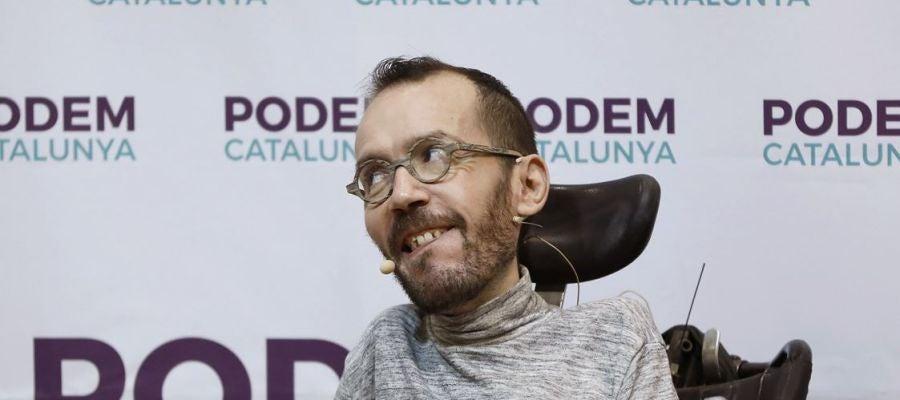 Pablo Echenique en un acto de Podemos