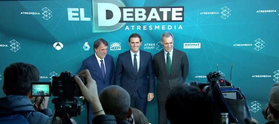 Albert Rivera llega al Debate Decisivo