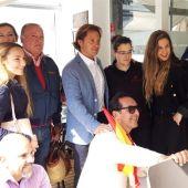 El presidente de Vox Baleares, Jorge Campos, y Malena Contestí, candidata de Vox al Congreso por Baleares.