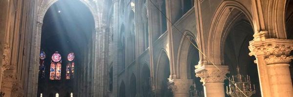 Notre Dame publica una increíble foto del interior de la catedral que se ha hecho viral