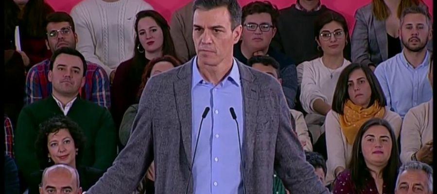 """Pedro Sánchez: """"Visto lo visto, el único proyecto cabal es el PSOE"""""""