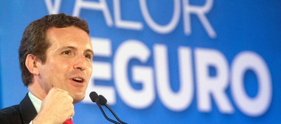 El candidato del PP a la Moncloa, Pablo Casado