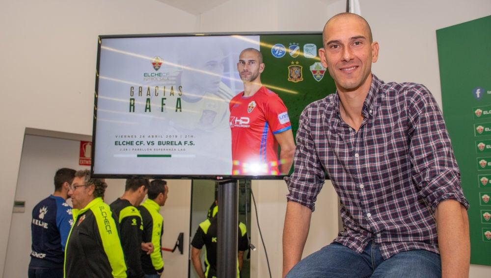 Rafa Fernández, el día que comunicó su adíos como portero profesional después de 21 años en la élite.