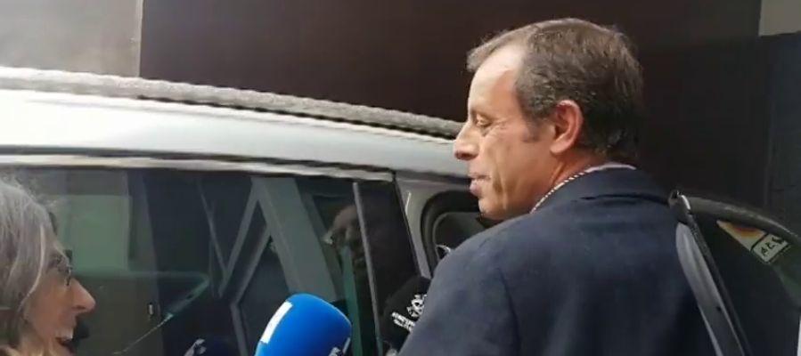 Primeras imágenes de Sandro Rosell tras su absolución