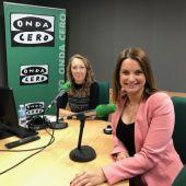 La candidata del PP balear al Congreso, Margalida Prohens, en Onda Cero Mallorca con Elka Dimitrova.