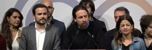 """Pablo Iglesias: """"El resultado es suficiente para frenar a la extrema derecha y construir un gobierno de coalición de izquierdas"""""""