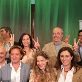El equipo de VOX Baleares, celebrando los resultados de las elecciones generales del 28-A.