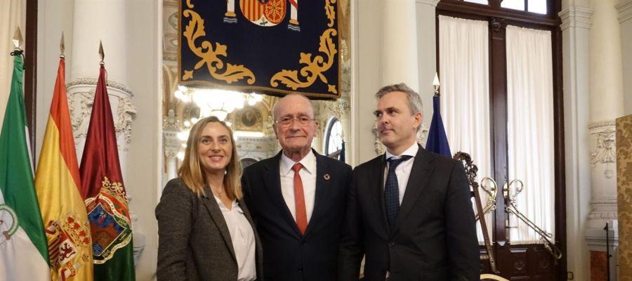 Alcalde de Málaga y consejera de Fomento