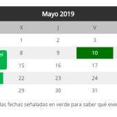 Calendario fechas clave tras el 28A