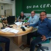 José Rizo de AESEC, Pedro Valero de ASAJA, Álvaro Sánchez de AEC y Fermín Crespo de AETE y Elche Piensa