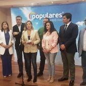 Lola Merino junto al resto de candidatos del PP de Ciudad Real a las Cortes de CLM