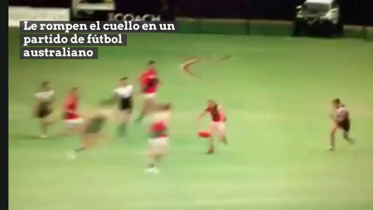 Duras Imágenes: Le Rompen El Cuello En Un Choque De Fútbol