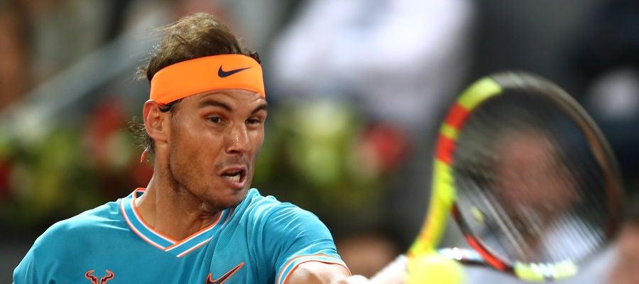 Rafa Nadal, durante el partido contra Wawrinka