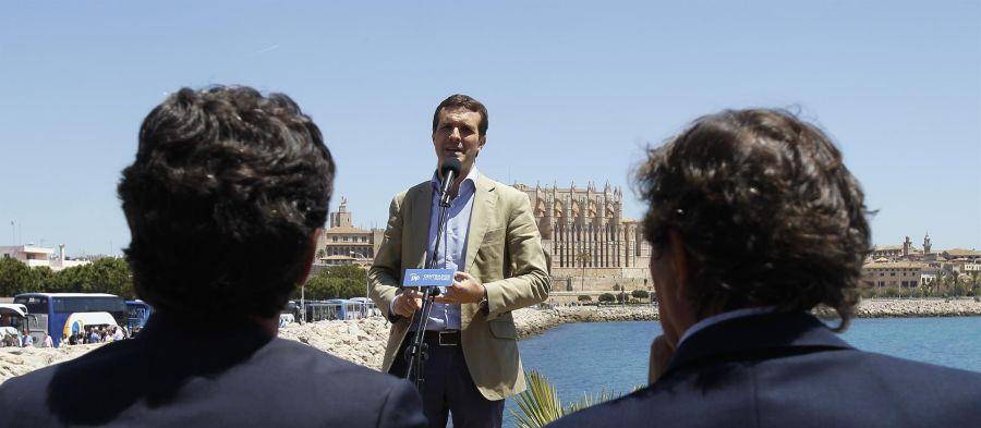 El líder del PP nacional, Pablo Casado