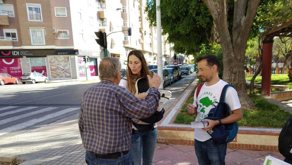 Cristina Martínez y Fernando Durá, candidatos de Ilicitanos por Elche en las elecciones municipales.