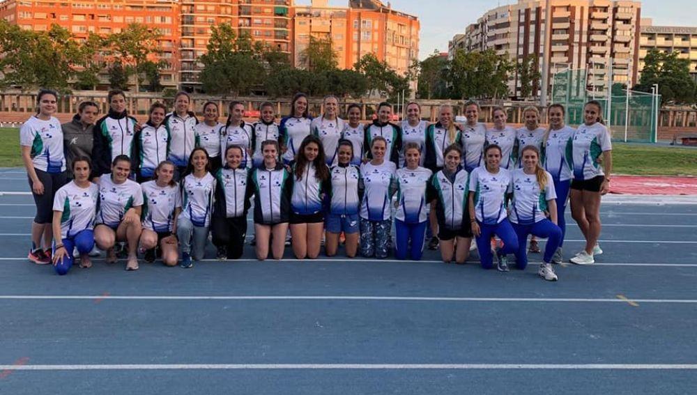 Atletas del Club Juventud Atlética de Elche que representaron al equipo ilicitano en la primera jornada de la División de Honor.