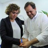 Montserrat y Núñez en la sede de campaña del PP de Ciudad Real