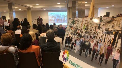 Acto de Cuenca nos Une durante la campaña electoral de 2019