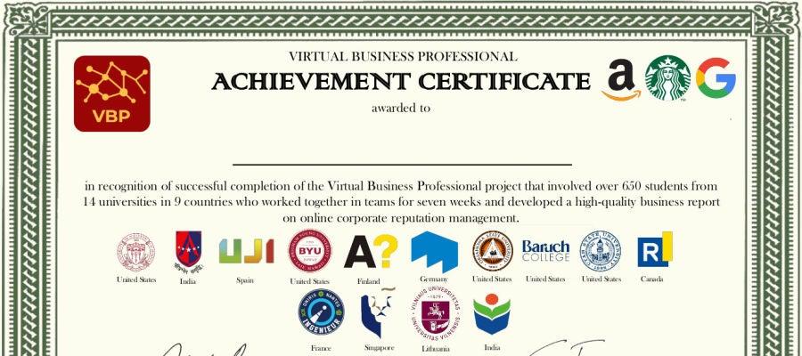 Certificado Master ELIT