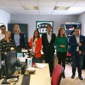 Candidatos León a cortes, Ana Carlota Amigo, Juan Carlos Suárez Quiñones, Pablo Fernández, Nuria Rubio y Luis Mariano Santos.
