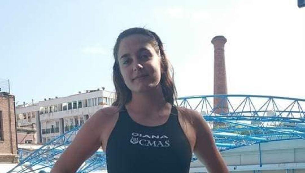 Alicia Gonzálvez, convocada por la selección española de natación con aletas que competirá en Grecia en el campeonato de Europa.